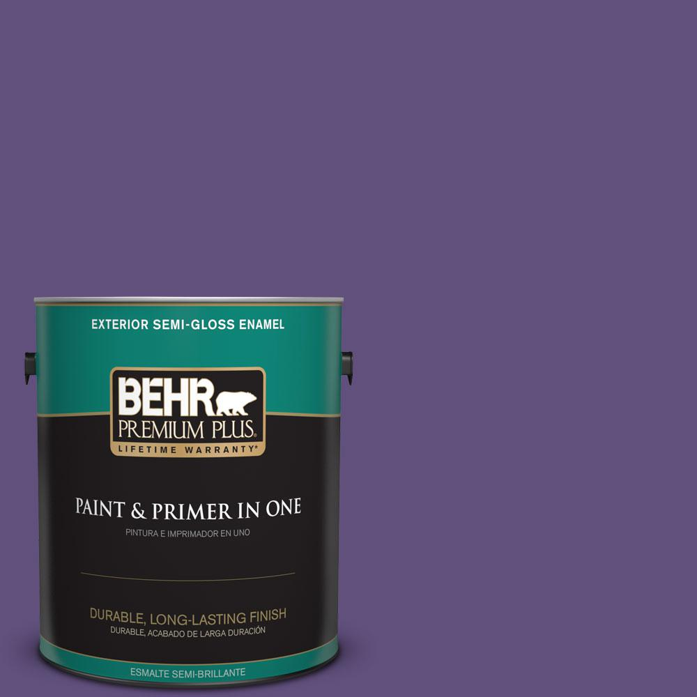 1-gal. #S-G-650 Berry Syrup Semi-Gloss Enamel Exterior Paint