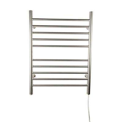 Radiant Straight Plug-In 24 in. W x 32 in. H 10-Bar Electric Towel Warmer in Brushed Stainless Steel