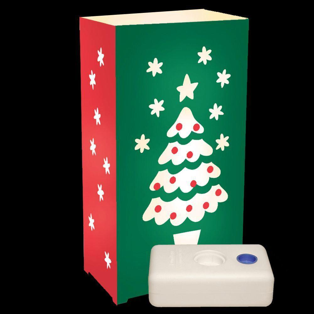 Lumabase Electric Luminaria Kit with Christmas Tree and LumaBases (10-Count)