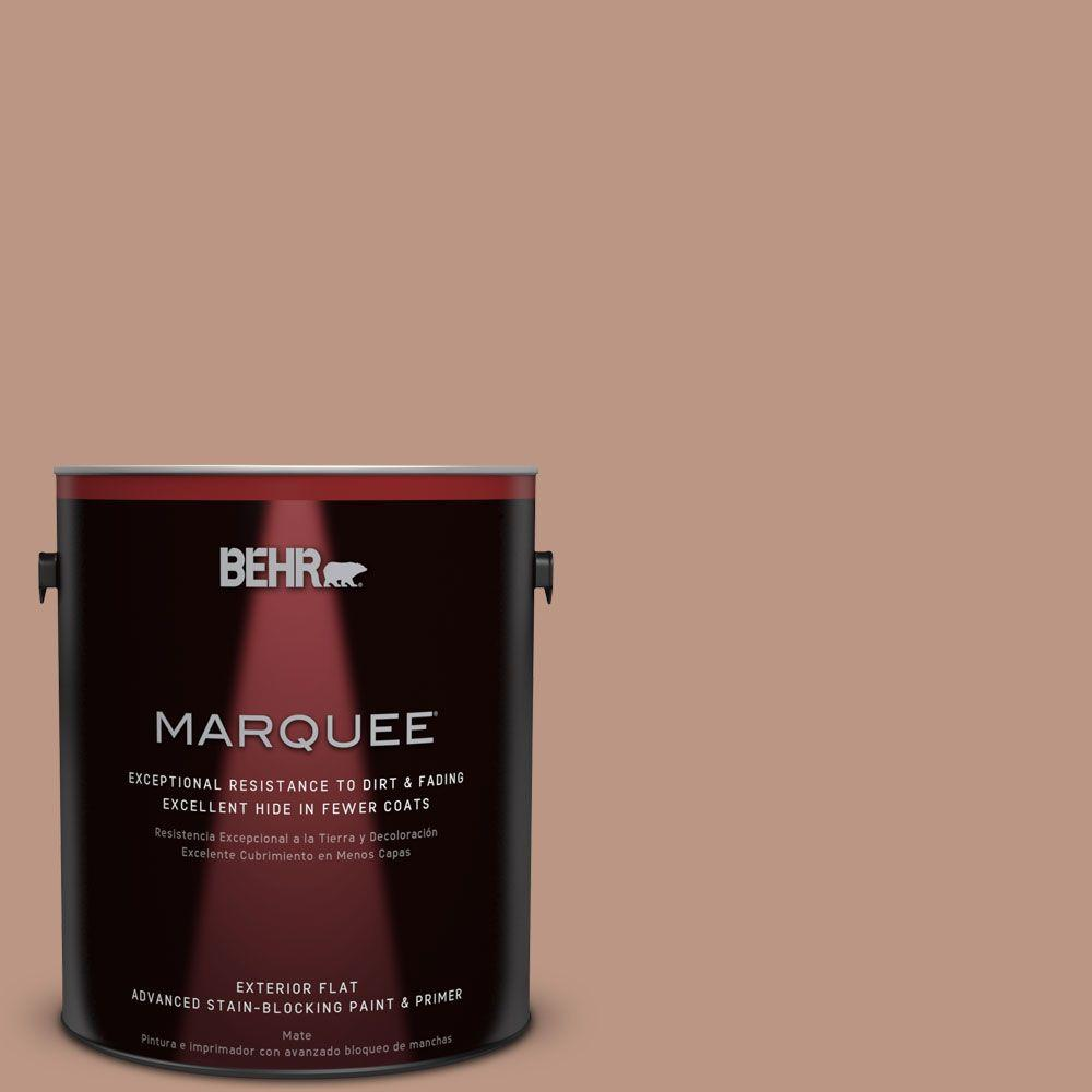 BEHR MARQUEE 1-gal. #S190-4 Spiced Brandy Flat Exterior Paint