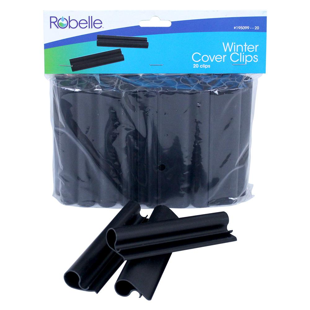 Robelle cover clips for above ground swimming pool covers 20 pack 195099 20 the home depot for Swimming pool winter cover clips