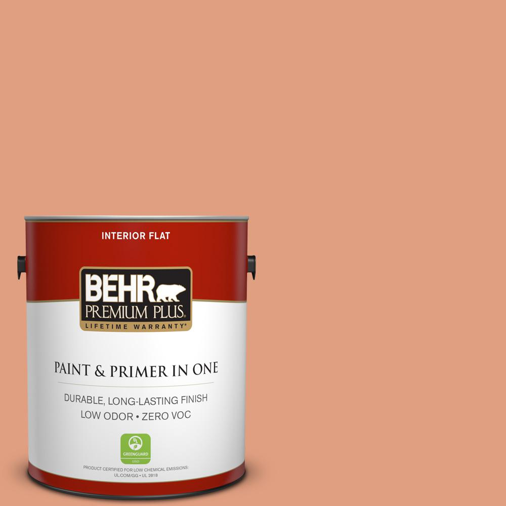BEHR Premium Plus 1-gal. #230D-4 Pecos Spice Zero VOC Flat Interior Paint
