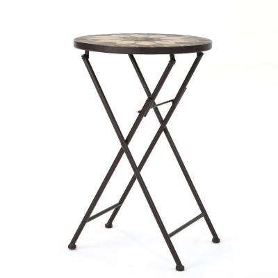 Canaan Round Stone Outdoor Side Table