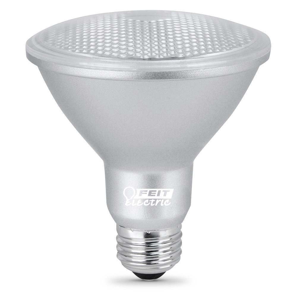Feit Electric 75-Watt Equivalent PAR30 Dimmable CEC Title 24 Compliant LED ENERGY STAR 90+ CRI Flood Light Bulb, Bright White