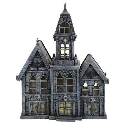 12 in. Battery Powered Haunted Mansion with Timer