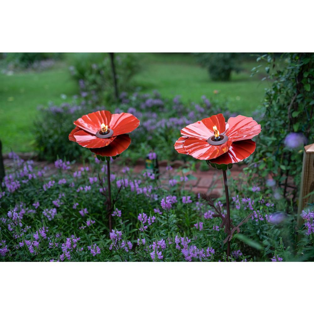36 in. Poppy Garden Torch