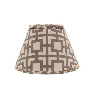 8 in. x 10.25 in. Gray Lamp Shade