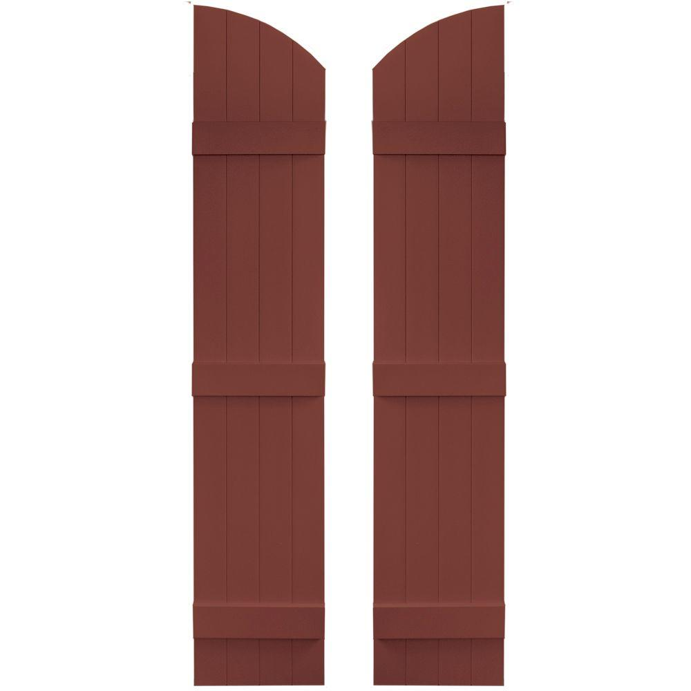 14 in. x 65 in. Board-N-Batten Shutters Pair, 4 Boards Joined