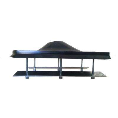 4 in. Steel Roof Flashing in Black