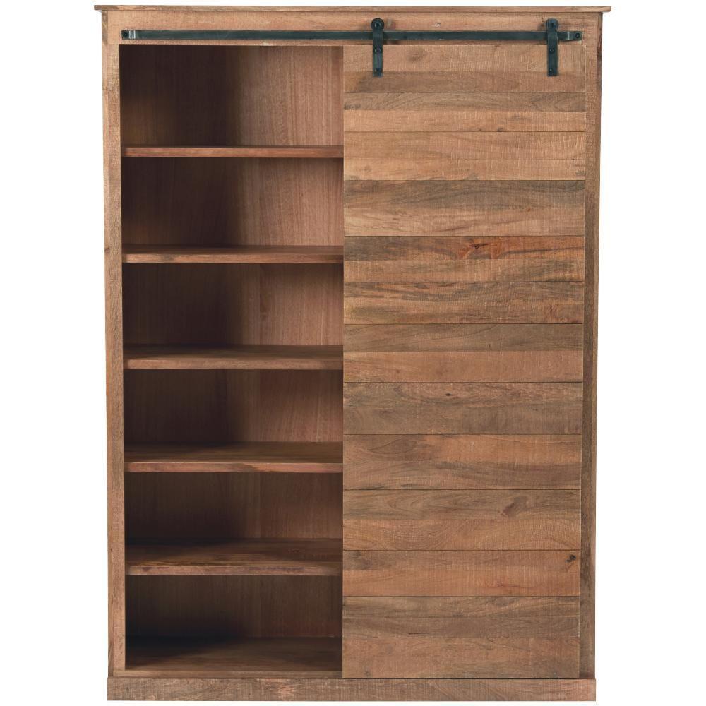 Natural Solid Door Bookcase
