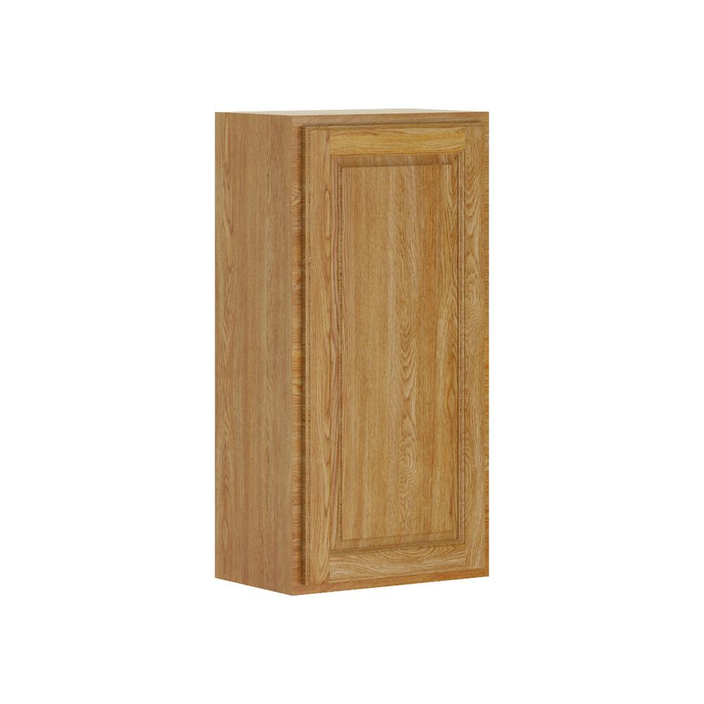 Madison Base Cabinets In Medium Oak: Hampton Bay Madison Assembled 18x36x12 In. Wall Cabinet In
