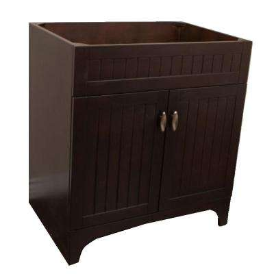 Redlands 31 in. Bath Vanity Cabinet Only in Sable Walnut without Vanity Top