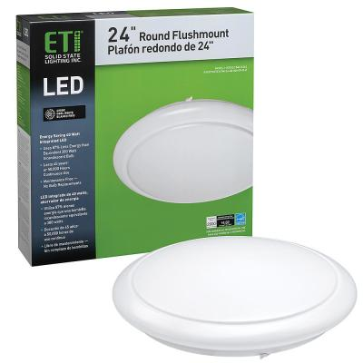 24 in. White Round LED Flush Mount Ceiling Light Kitchen Laundry Garage Light 2900 Lumens 4000K Bright White Dimmable