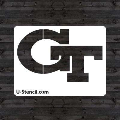 "Georgia Tech ""GT"" Mini Stencil"