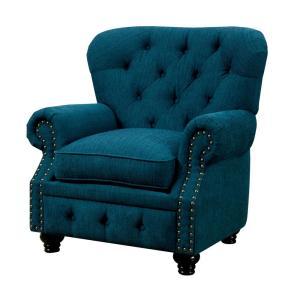 Stanford Dark Teal Traditional Style Living Room Chair