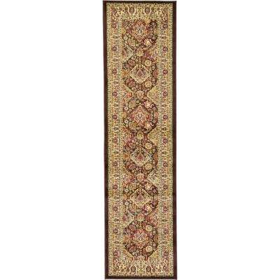 Voyage Colonial Brown 2' 7 x 10' 0 Runner Rug