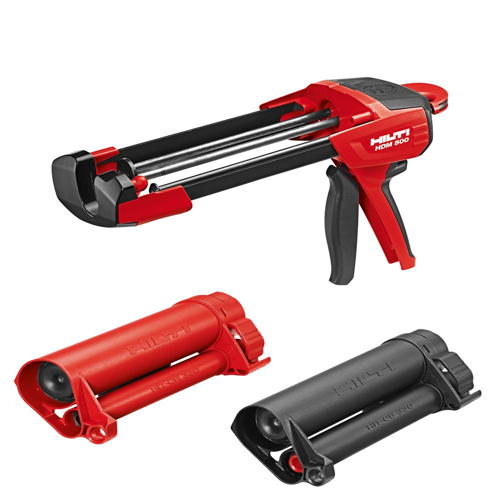Hilti HDM 500 Manual Anchor Adhesive Dispenser with HIT-CR 500 and HIT-CB