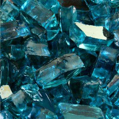 10 lbs. of Tahitian Blue 1/2 in. Reflective Fire Glass