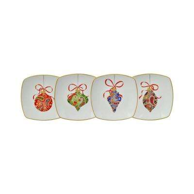 Paisley Ornaments Dessert Plates (Set of 4)