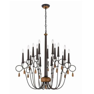 Corso 15-Light Wood Chandelier