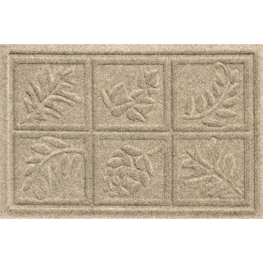 Bungalow Flooring Aqua Shield Nature Walk Khaki 17.5 In. X 26.5 In. Door  Mat 20338501827   The Home Depot