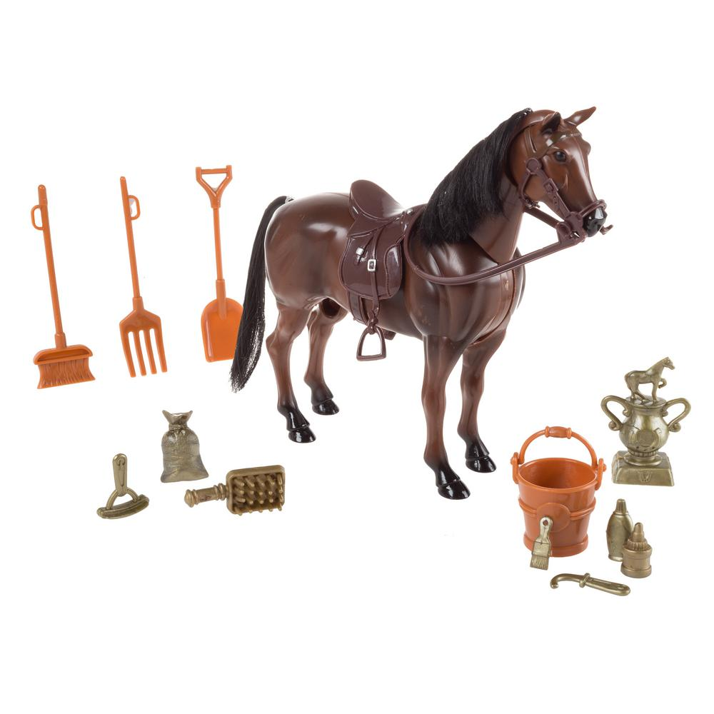 Hey! Play! Toy Horse Set with Accessories
