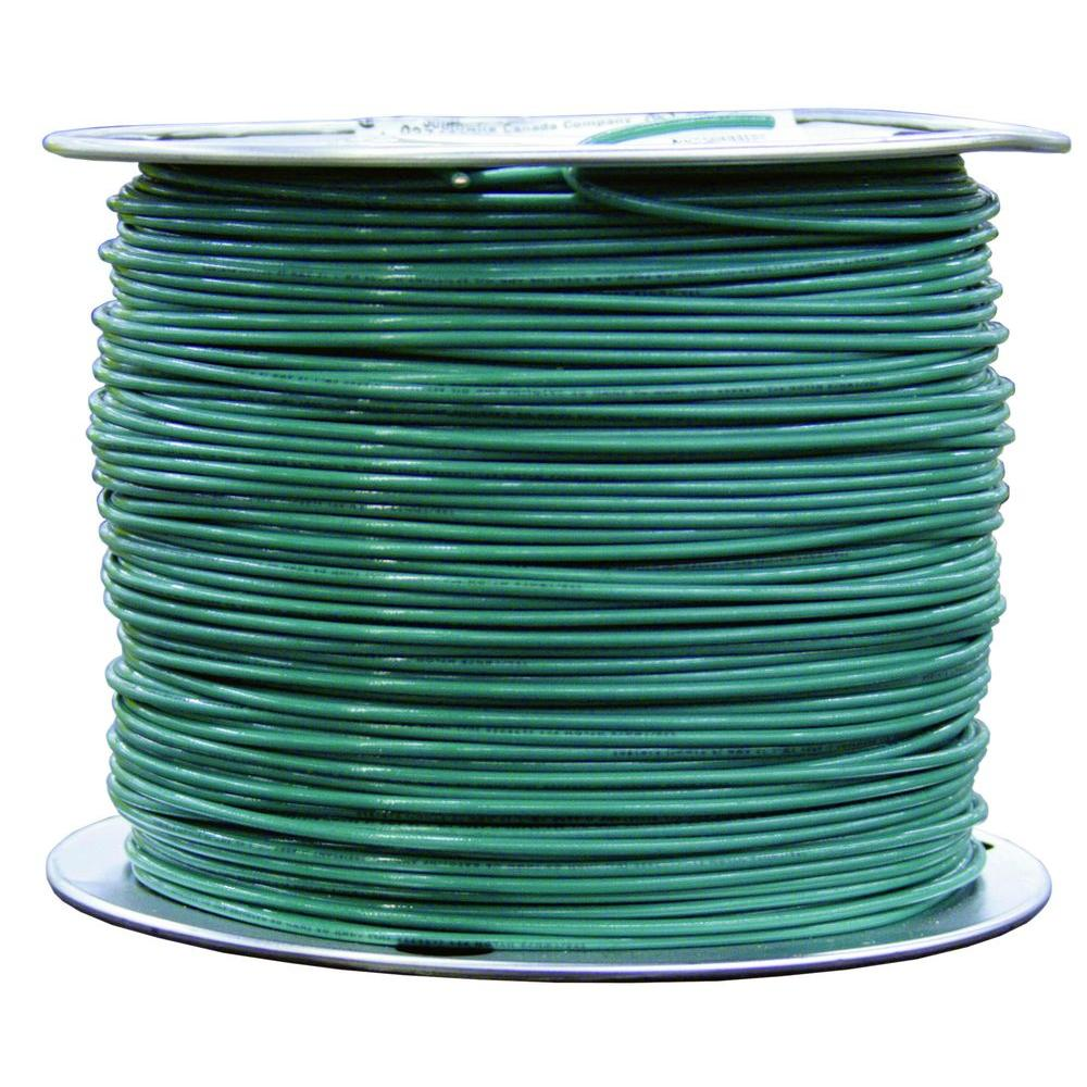 Southwire 500 ft. 8 Green Solid CU TW Wire-14118403 - The Home Depot