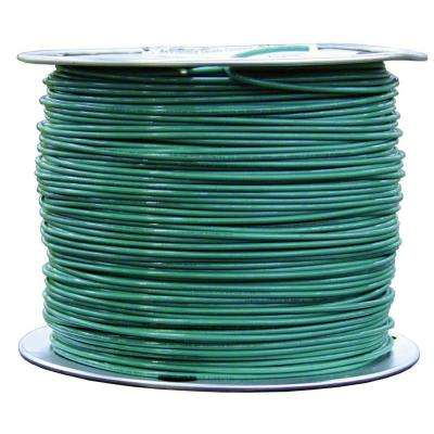 Solid green wire electrical the home depot 8 green solid cu tw wire greentooth Images