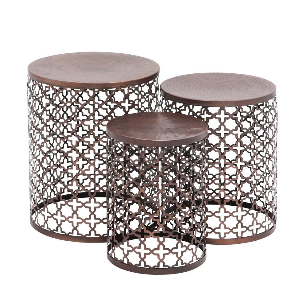 Espresso End Table (Set of 3)  sc 1 st  Home Depot & Espresso End Table (Set of 3)-23941 - The Home Depot