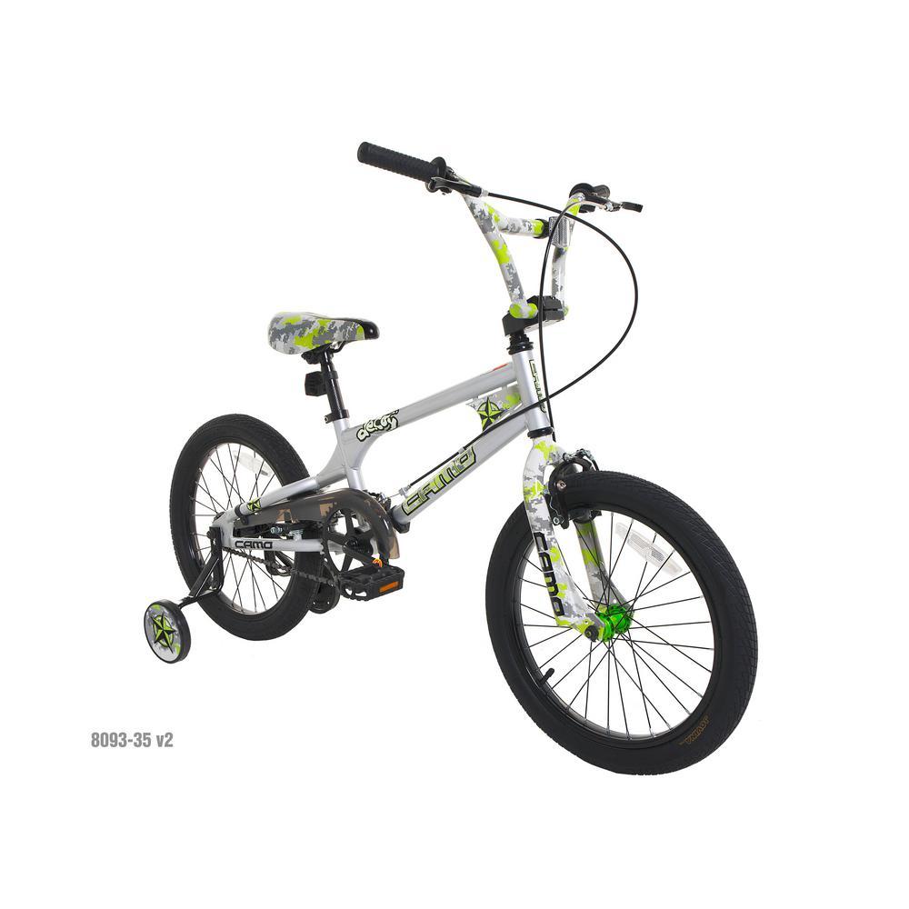 18 in. Boys Camo Decoy Bike