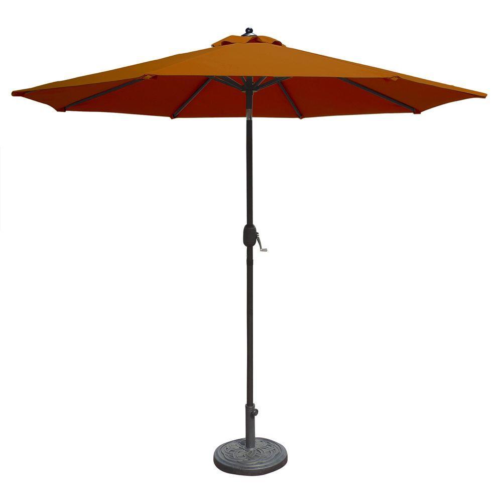 Octagonal Market Auto Tilt Patio Umbrella In Terra Cotta Sunbrella Acrylic