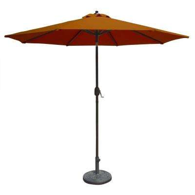 Mirage 9 ft. Octagonal Market Auto-Tilt Patio Umbrella in Terra Cotta Sunbrella Acrylic