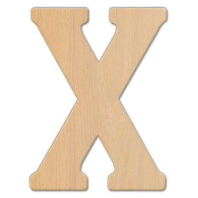 23 in. Oversized Unfinished Wood Letter (X)