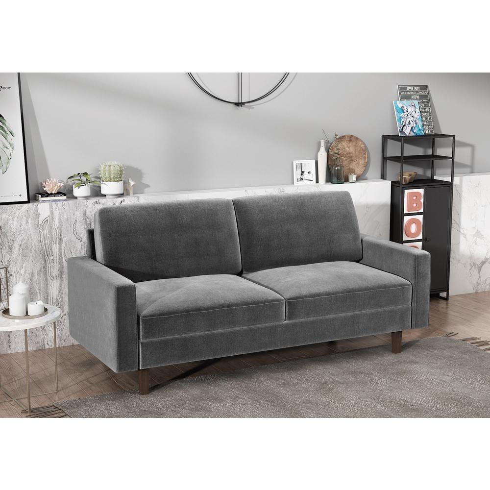Surprising Us Pride Furniture Ross Modern Velvet Grey 3 Seater Sofa Cjindustries Chair Design For Home Cjindustriesco