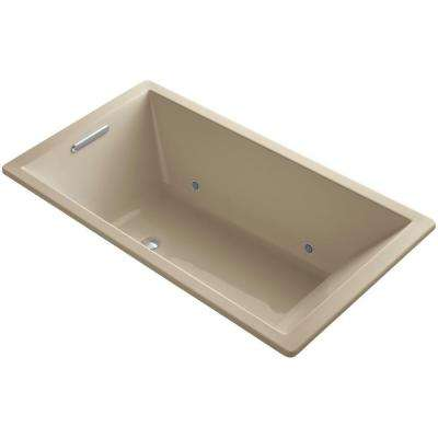 Underscore 5.5 ft. Rectangular Drop-In or Undermount Non-Whirlpool VibrAcoustic Bathtub w/ Chromatherapy in Mexican Sand