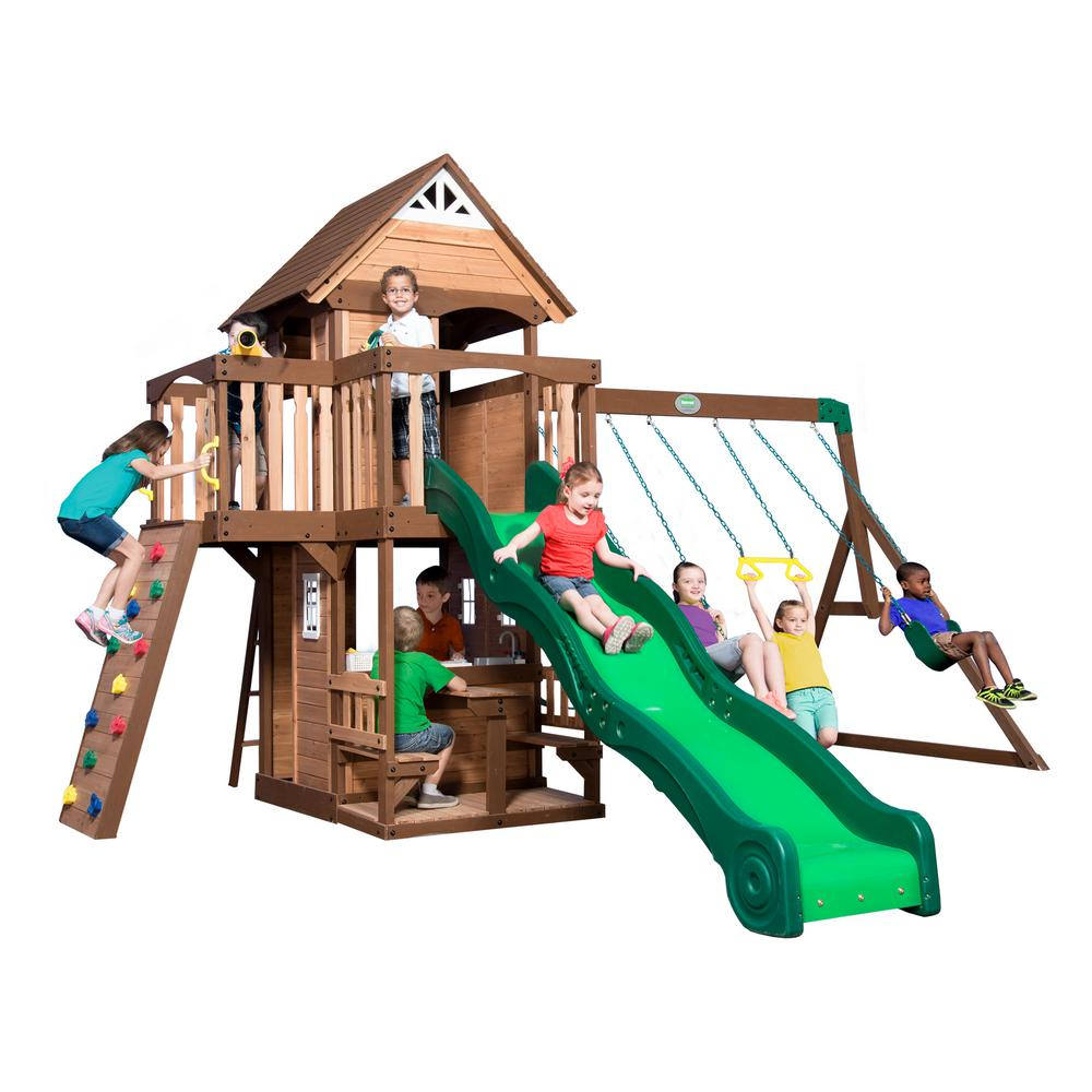 Backyard Discovery Mount Triumph All Cedar Swing Set 1701014com