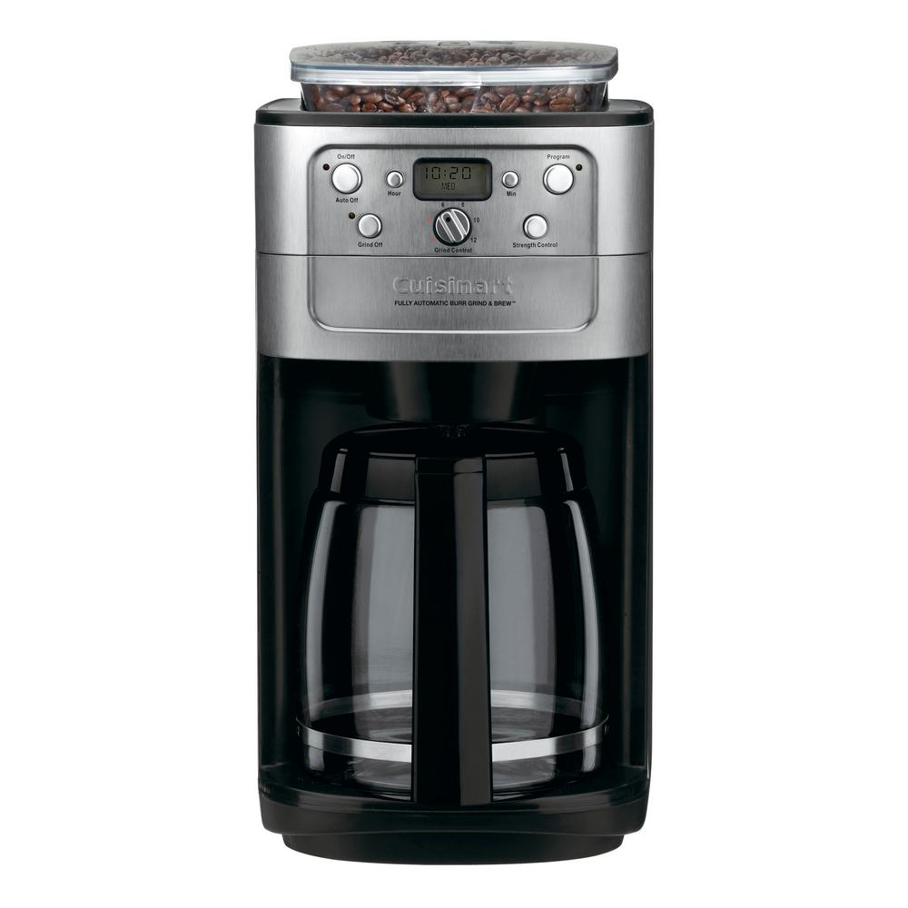 Cuisinart Grind and Brew 12-Cup Coffee Maker, Black And B...