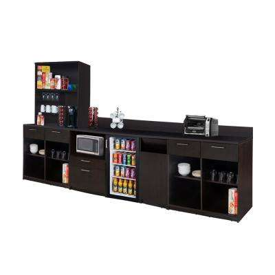 Coffee Kitchen Espresso Sideboard with Lunch Break Room Functionality with Assembled Commercial Grade 3385
