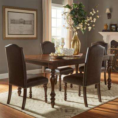 Madison 5 Piece Brown Extendable Dining Set