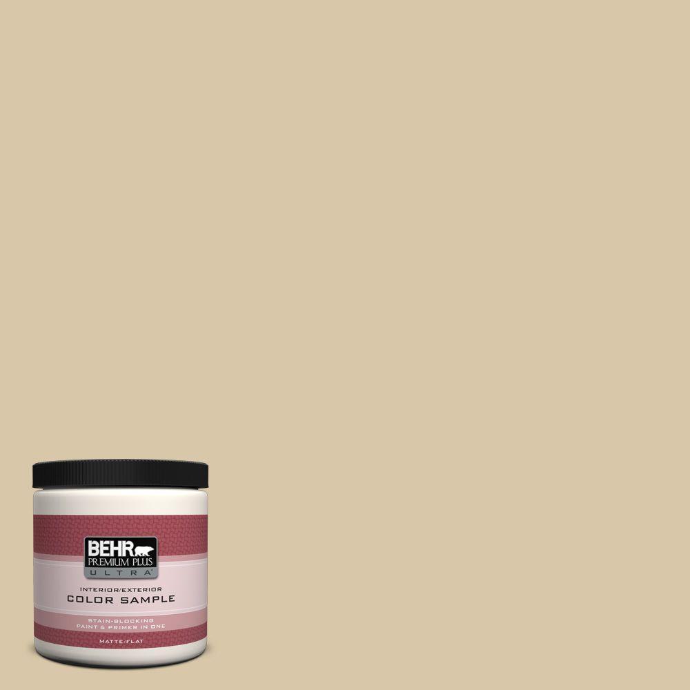 BEHR Premium Plus Ultra 8 oz. #PPU4-13 Sand Motif Interior/Exterior Paint Sample