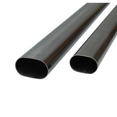 3in Oval (Nominal Size) T304 SS Straight Tubing (16 ga) - 5 foot length