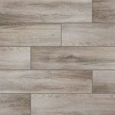 Evermore Shadow Wood 6 In X 24 Porcelain Floor And Wall Tile