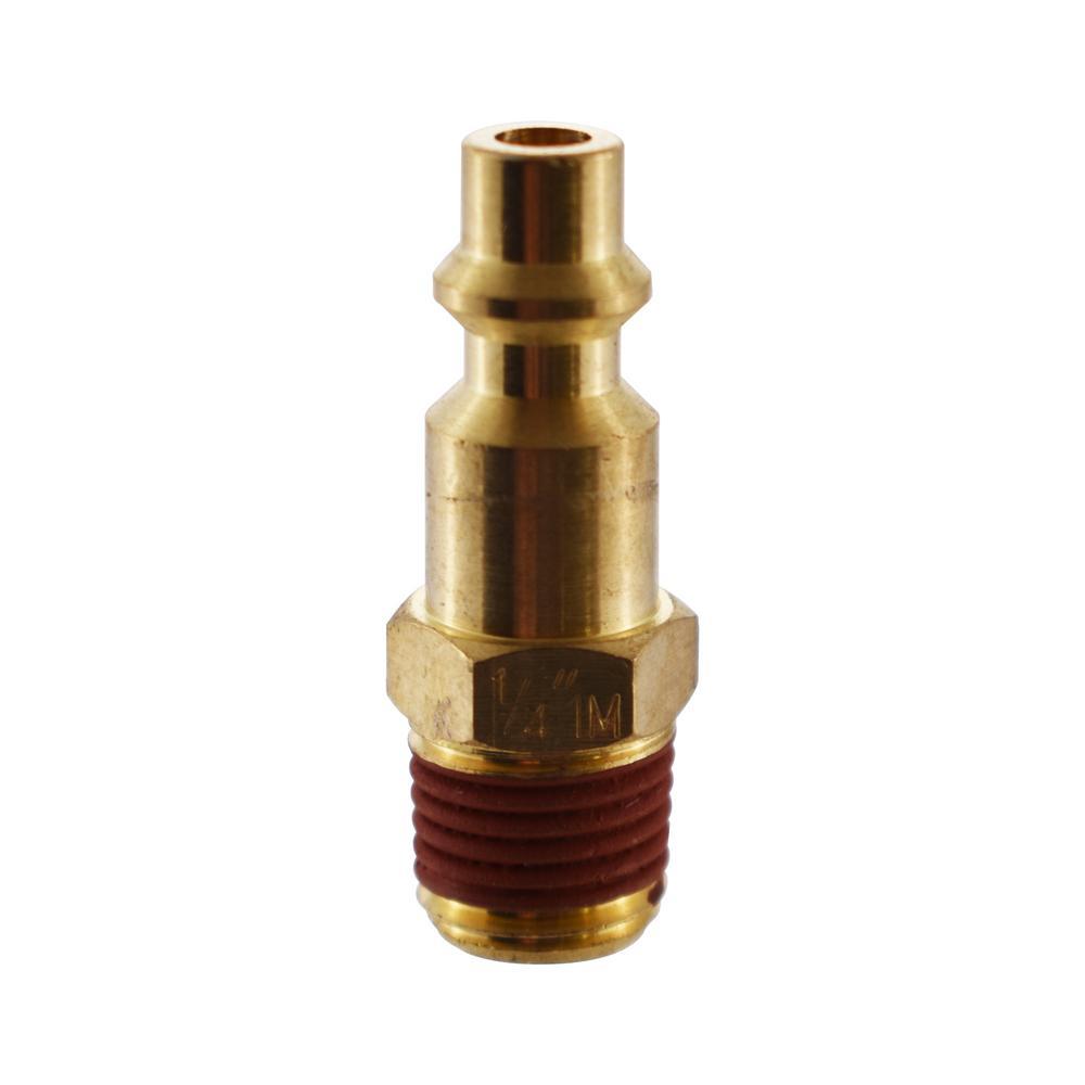 1/4 in. x 1/4 in. NPT Male Industrial Brass Plug