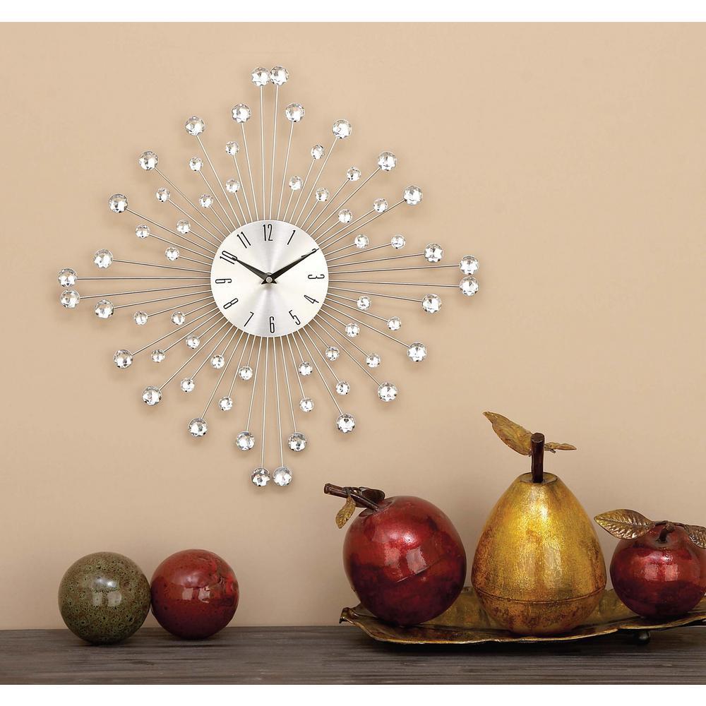 19 in. x 19 in. Decorative Iron Wall Clock