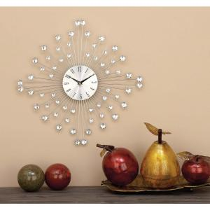 19 inch x 19 inch Decorative Iron Wall Clock by