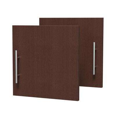 0.75 in. D x 15 in. W x 15 in. H Horizon Door Kit for Utility Wall Cabinet Melamine Closet System with Handle in Mocha