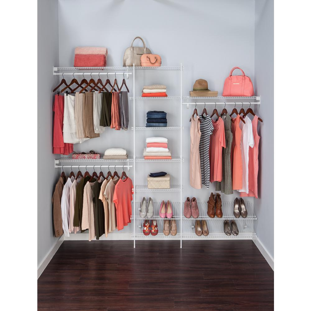 Ventilated Wire Closet Organizer Kit with Handy Hanging ...