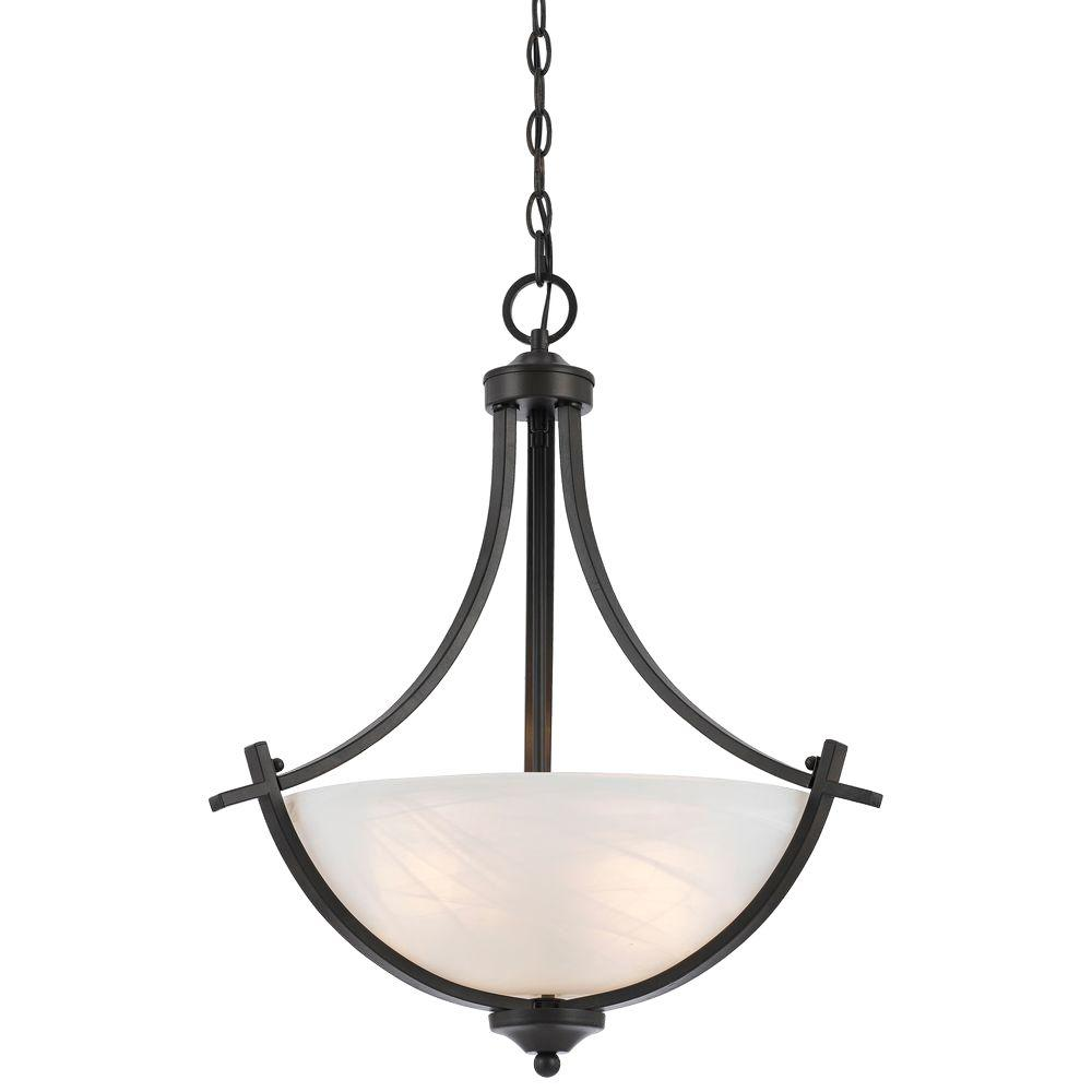 Pendant Drop Tips For Incorporating Pendant Lights Into A: Filament Design Warna 3-Light Bronze Pendant-8002-02-20
