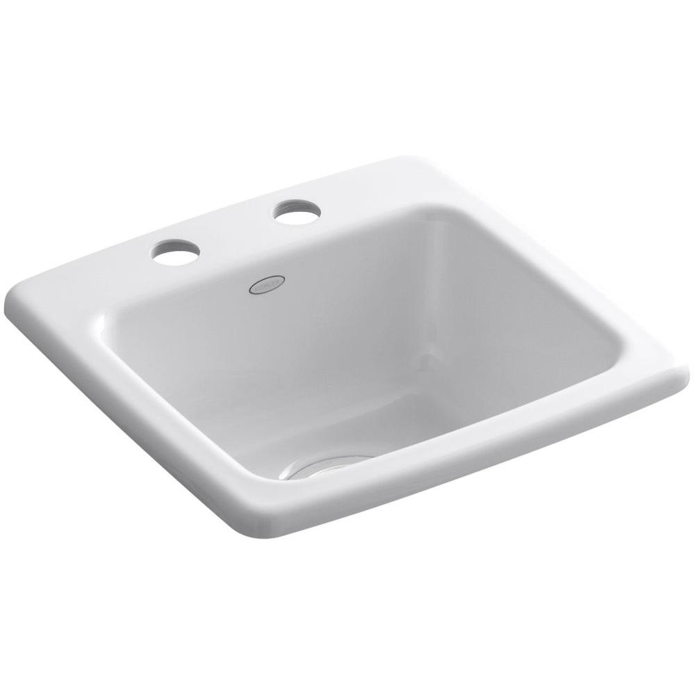 Gimlet Drop-In Acrylic 15 in. 2-Hole Single Bowl Bar Sink in