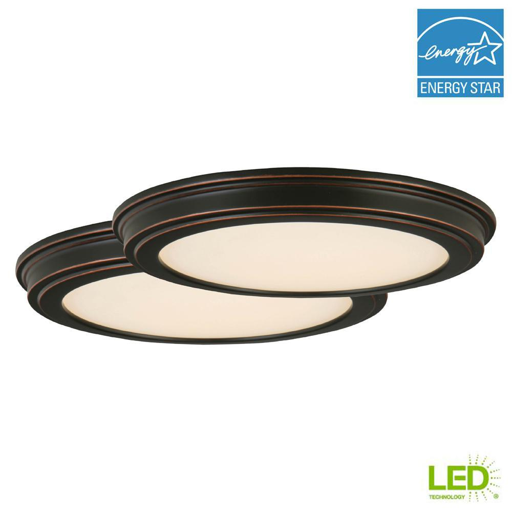Oil Rubbed Bronze Led Ceiling Flush
